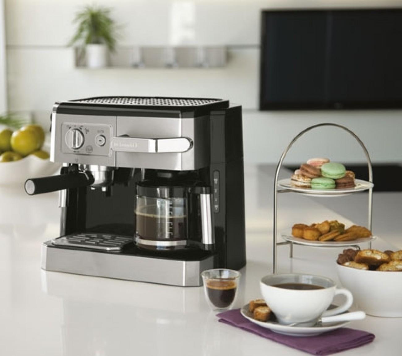 delonghi bco 420 1 kombi espresso kaffeemaschine schwarz silber. Black Bedroom Furniture Sets. Home Design Ideas